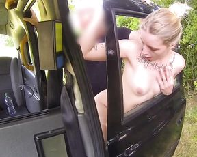 Girl with a hot temper gently gets it on with naked taxi driver