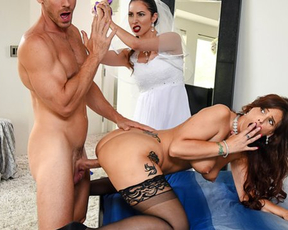Girl's groom can't resist the temptation to fuck her naked stepmom