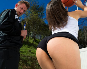 Girl obtains great anal experience thanks to naked basketball coach