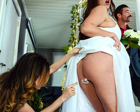 Girl craves for cock in naked ass and cheats on husband on wedding day