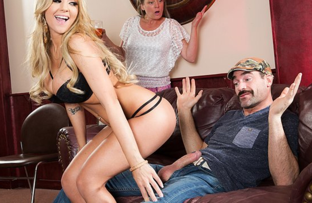 Mustached man forgets about wife fucking naked ass of super-hot girl