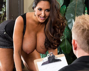 Handsome boy instead conducting survey makes love with naked girl