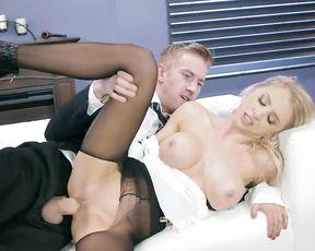 Stepfather punishes naughty girl using his impressive naked fuckstick