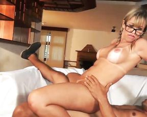 Comely Latina girl can hardly wait to be impaled by naked partner