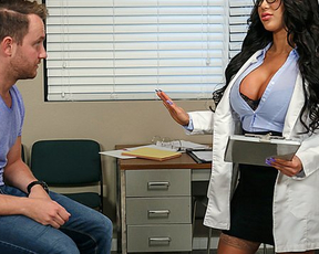 Doctor sees client likes liking naked pussy and enjoys nailing from behind