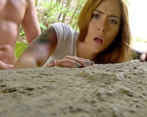 Gorgeous redhead for easy cash not afraid to try naked sex outdoors