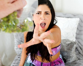 Man found stepdaughter's weed and punished naked for smoking through fucking