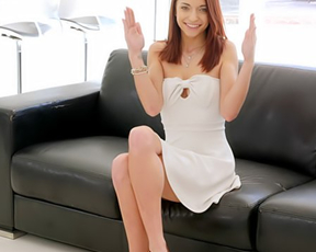 It is a first time when cute girl with red hair has naked sex on camera