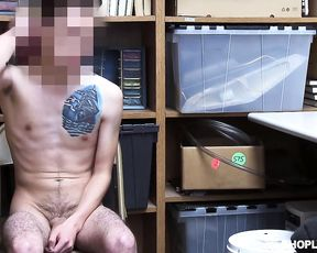 Man is invited to storeroom not for talking but to fuck naked girl in uniform