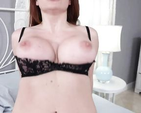 Dude gets a blowjob from his sexy stepdaughter and then fucks her mom till she squirts