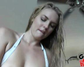 Man shoots his first porn video starring his smoking hot girlfriend