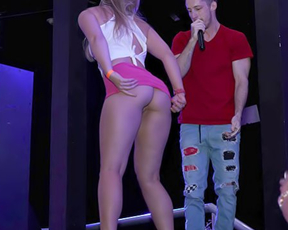 Host didn't expect club girl would try to tempt him into naked drilling