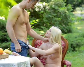 Couple is alone in forest and naked girl wants to be analyzed by BF