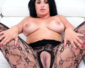 Sultry girl in lace lingerie teases lover to embark sensual naked sex