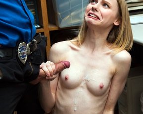 Innocent shoplifter forced to suck naked penis if she wanted to be free