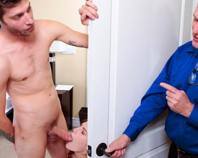 Grounded girl joins stepbrother in bedroom to have naked encounter