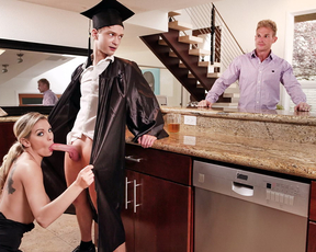 MILF promises her stepson to let him fuck her after finishing college