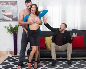 MILF's husband isn't treating her the way she wants so she gets the gardener's help