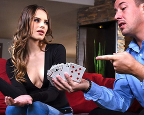 Naked girl lost card game and was obliged to be humped by winner
