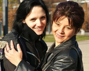 Lesbian girlfriends think life is wonderful when lick naked pussies