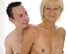 Blonde old woman needs a young naked cock to be satisfied properly