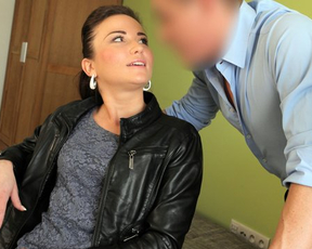Chick for new motorbike ready to be drilled naked by horny loan shark
