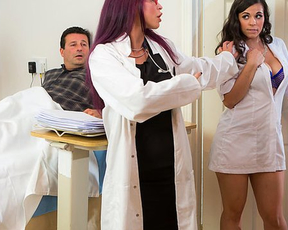 Smoking-hot doctor properly dominates over naked nurse after work
