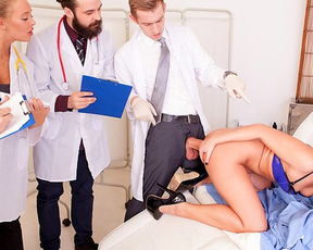 Doctor analyzes naked patient with help of his impressive phallus