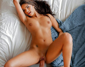 Naked girl with tanned body adores nothing better than fucking