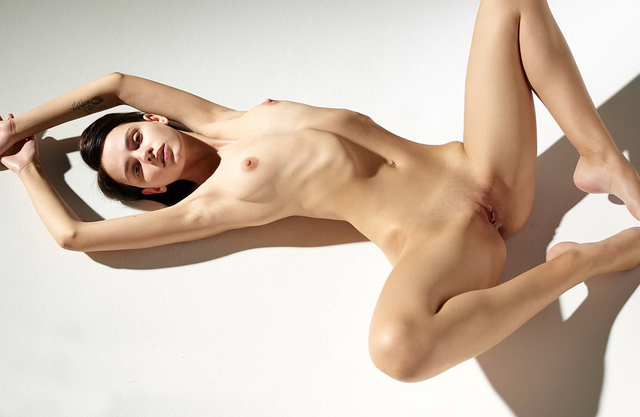 Beautiful young naked girl can do some wonderful stuff with her stunning body