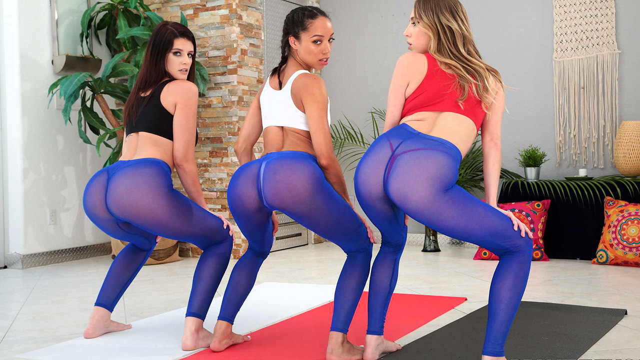 Girls Farting Yoga Pants