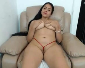Naked bitch thanks fan for tips exposing big boobies and shaved pussy