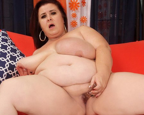 Slutty female with natural jugs shares naked porn masturbation show with viewers