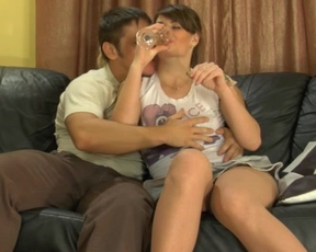 Man gets naked girlfriend drunk making her adore hot sexual entertainment