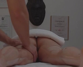 Young masseur manages to fuck naked lovely with wonderful melons