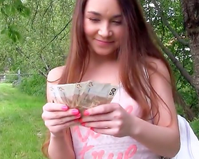 Cameraguy pays good money for naked sex and winsome girl can't refuse