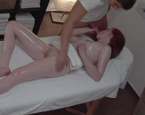 Guy gives naked Czech girl massage and sexual desire fills her