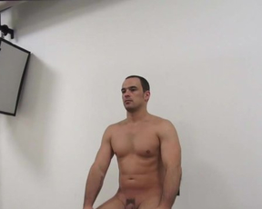 Middle-aged twink comes to porn casting and impresses naked girls