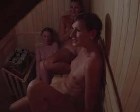 Secret footage of naked Czech girls who relax together in the sauna