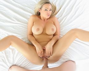 Hot blonde fucks hard with the delivery man