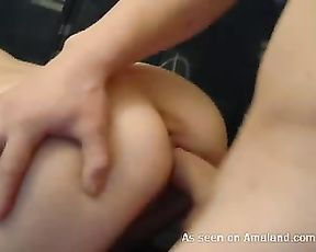 Teen couple making love in front of the webcam