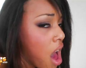 Incredibly hot girlfriend giving her man a lovely blowjob