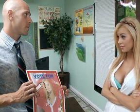 Kinky blonde slut fucked hard by her teacher