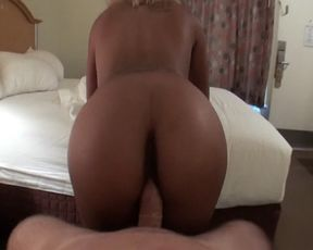 Black naked girl enjoys a hot fuck