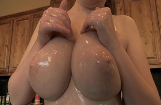 Naked Oily Girls Boobs