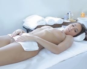 Stunning sexy model fucked on the massage table