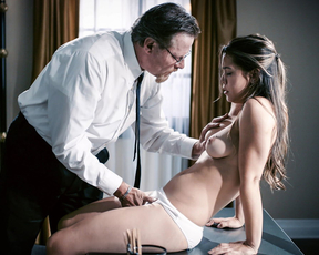 Submissive nubile seduced by her bishop into oral foreplay and hardcore pounding