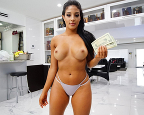 The hottest Latina babe with a big ass came to clean my house but ended up getting her pussy cleaned by me
