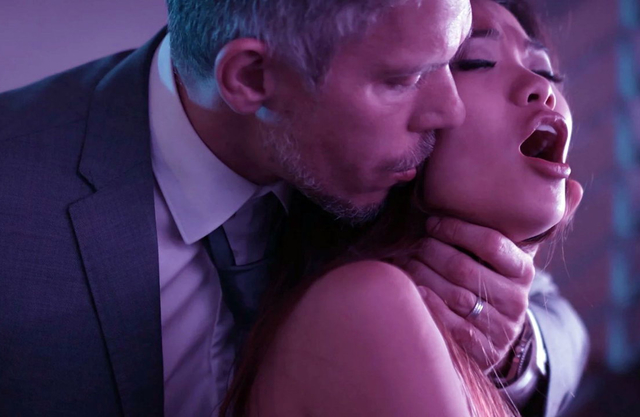 Sugar daddy drills the tight little pussy of submissive Asian with his BWC