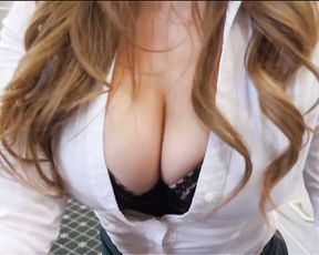 My office mentor`s cunt, her hairy bush and her mouth were covered in cum